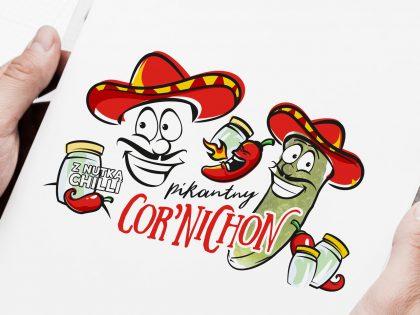 Cor'Nichon - graficzne motywy reprezentujące linię kreacyjną opracowaną przez Pictorial