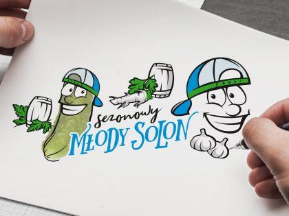 Młody Solon - graficzne motywy reprezentujące linię kreacyjną opracowaną przez Pictorial