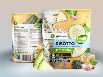 Opakowanie Risotto z cukinią zaprojektowane dla marki Green Woodpecker przez Pictorial
