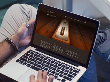 Prezentacja produktu w witrynie internetowej zaprojektowanej i wdrożonej przez Pictorial dla marki Lugaah