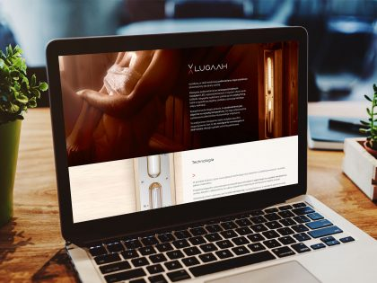 Prezentacja produktu na stronie internetowej zaprojektowanej i wdrożonej przez Pictorial dla marki Lugaah
